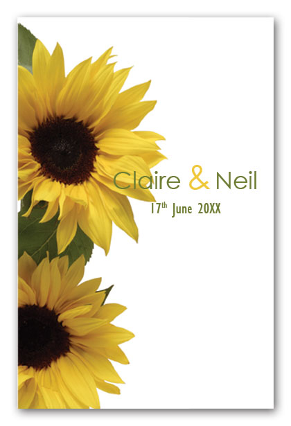Sunflowers wedding invitation