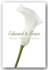 White Calla Lily Invitation