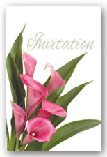 Pink Calla Lily Invitation
