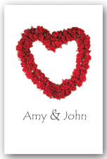 Red Rose Heart Invitation