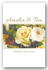 Rose Bouquet Invitation