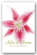 Stargazer Lily Invitation