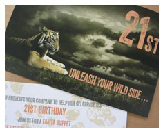 21st birthday invitations from Millbank and Kent