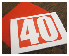 40th Birthday Invitations from Millbank and Kent