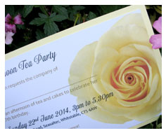 Afternoon Tea Party Invitations from Millbank and Kent