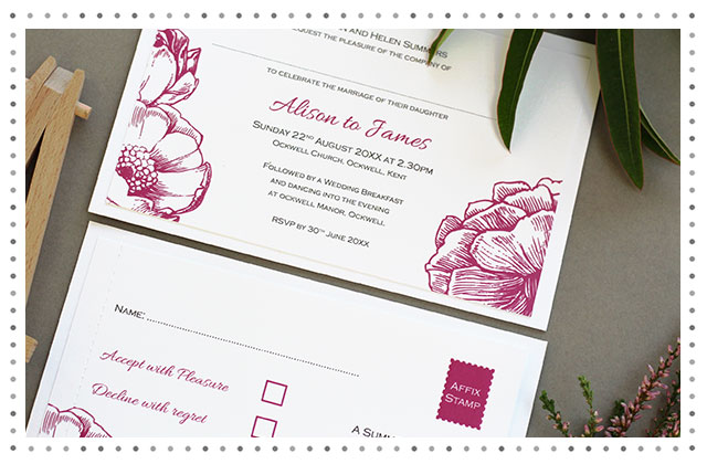 Contemporary Rose Wedding Stationery