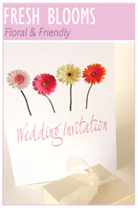 Fresh Blooms wedding stationery collection from Millbank and Kent
