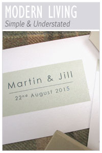 Modern Living wedding stationery collection from Millbank and Kent
