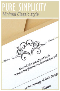 Pure Simplicity wedding stationery collection from Millbank and Kent