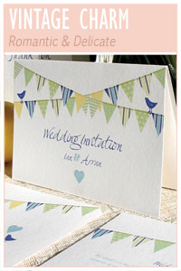 Vintage Charm wedding stationery collection from Millbank and Kent