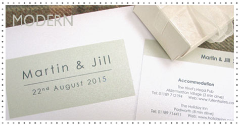 Modern simple wedding invitations