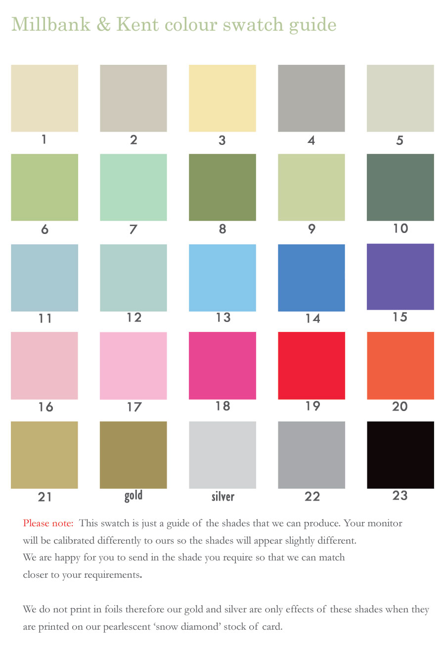 Colour matching wedding invitations contemporary wedding colour guide for your stationery ombrellifo Images