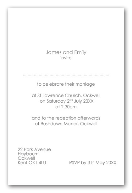 Wedding invitation wording bride and groom as hosts day example 2 d bride and groom as hosts stopboris Choice Image