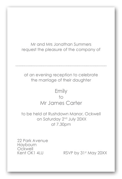 Wedding invitation wording brides parents as hosts evening example wedding invitation wording examples stopboris Gallery