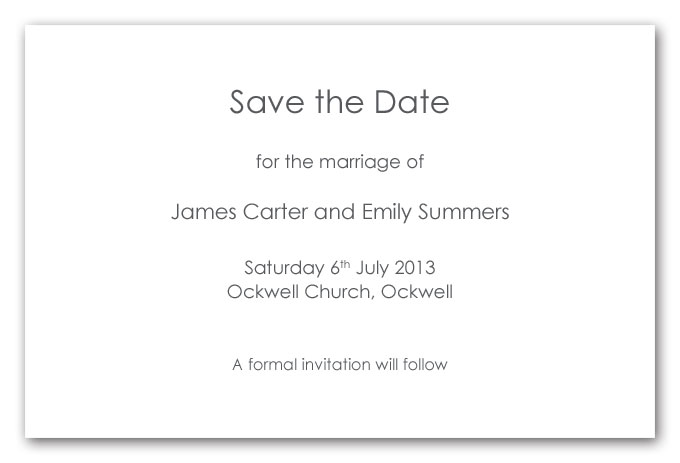 Dating invitation wording