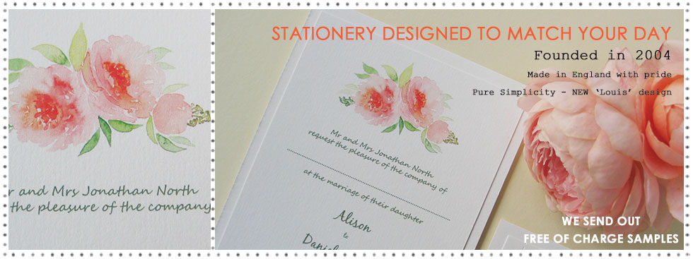 Louis watercolour wedding stationery