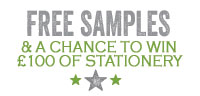 Request a free sample and be in with a chance of winning £100 of wedding stationery